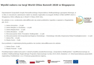 Targi World Cities Summit 2020- Singapur